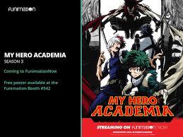 Seeking Season 3 Dvd Release Date My Academia Season 3 Release Date Boku No Academia