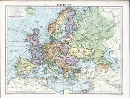 Geographical Map Of Europe by London Geographical Institute U0027s 1919 Map Of Europe After The