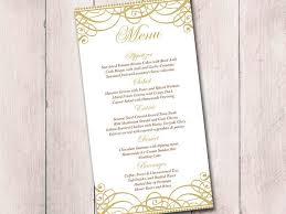 gold wedding menu card template wedding reception menu