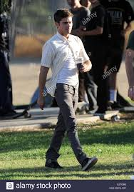 actor zac efron filming a scene for his new movie u0027we are your