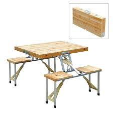 picnic tables folding with seats wooden cing picnic table bench seat outdoor portable folding