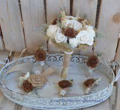 burlap boutonniere wedding bouquet small sola bouquet winter bouquet bouquet