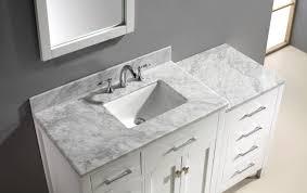 Single Bathroom Vanity Set Virtu Usa Caroline Parkway 57 Single Bathroom Vanity Set In White