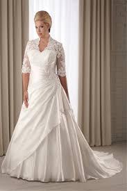 half lace wedding dress a line satin half sleeve lace up chapel plus size