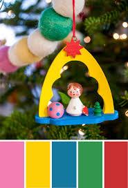 color palette inspiration wooden german ornaments