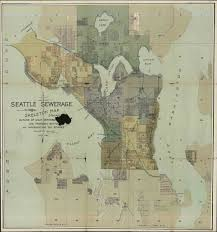 Seattle Maps Seattle Sewer Districts 1890 From Appendix To 1894 Annual U2026 Flickr