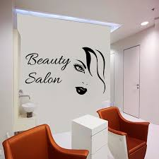 art decor woman wall decals beauty salon decorative wall