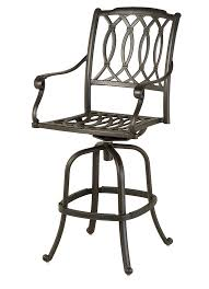 Hanamint Outdoor Furniture Reviews by Hanamint Mayfair Swivel Bar Stool All Things Barbecue