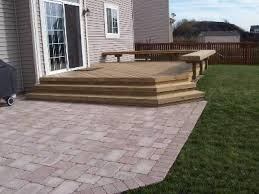 Small Patio Designs With Pavers Paver Patios Ideas Inexpensive Decks And Small Patios Small Decks