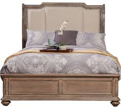melbourne sleigh bed with upholstered headboard traditional