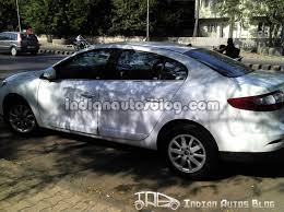 spied renault fluence in pune exclusive