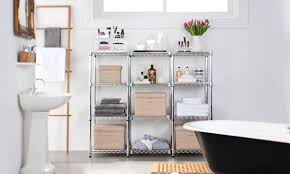 Shelving Units For Bathrooms Bathroom Shelving Units Langria