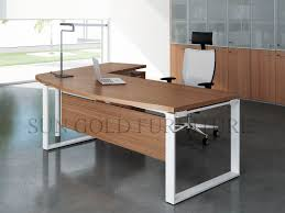 china modern office table desk metal structure wooden computer