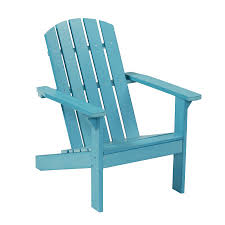 Furniture Lowes Folding Chairs Lowes Shop Garden Treasures Windsor Bay Blue Resin Patio Adirondack