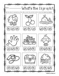 digraphs sorting cards and activity sheets ch sh t 1st