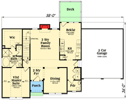 2 story master down home plan 75402gb architectural designs 2 story master down home plan 75402gb floor plan main level