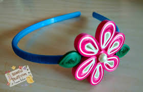 tutorial quilling flower diy paper quilled hair band easy paper quilling flower tutorial