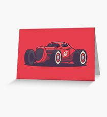 classic car greeting cards redbubble