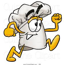 cuisine clipart of a smiling chefs hat mascot character
