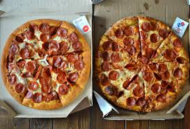round table pizza pan vs original crust domino s vs pizza hut crowning the fast food pizza king first we