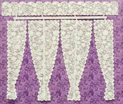 Lace Curtains 1 48 Rose 2 Double And Triple Panel Lace Curtains Stewart