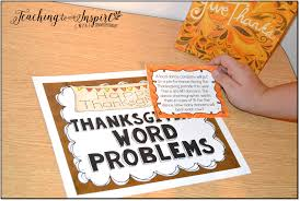 thanksgiving math activity thanksgiving activities for upper elementary teaching to inspire