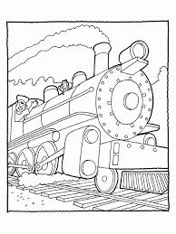 coloring pictures trains kids coloring