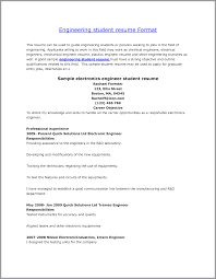 cover letter students resume format resume format for college