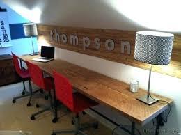 extra long desk table best extra long computer desk fantastic