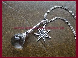silver crystal ball necklace images Crystal ball pendant faerie pentacle necklace crystal ball jpg