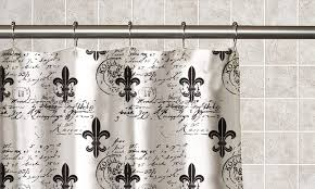 Fleur De Lis Bathroom Fleur De Lis Printed Peva Shower Curtain Groupon