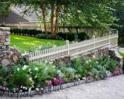 retaining wall and fence houzz