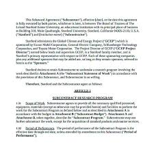 subcontractor agreement free pdf 11 subcontractor agreement