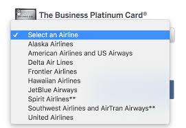 choosing your amex platinum 200 airline fee credit