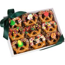 chocolate pretzel thanksgiving twists holiday cookie gifts gift