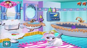 disney princess games snow white bathroom clean up youtube