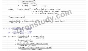 trigonometric identities ex 7a q 26 to q 38 r s aggarwal