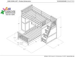 Bunk Bed Drawing School House Stair Loft Bunk Bed Chocolate Bed Frames Ne