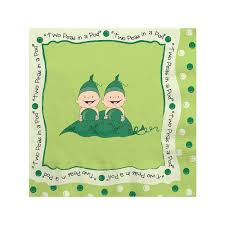 two peas in a pod baby shower two peas in a pod baby shower beverage napkins 16 ct