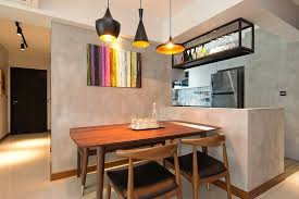 next kitchen furniture home in singapore space savvy interior laced with industrial elements
