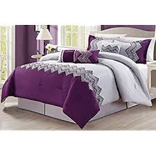 Purple Full Size Comforter Set Amazon Com Purple Grey Lavender Comforter Set Fresca Vine