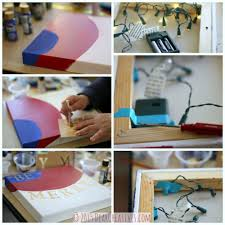 diy crafts project christmas crafts holiday canvas with led lights
