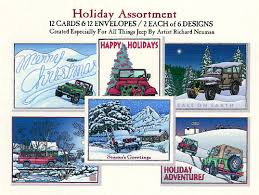 jeep christmas cards in august