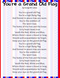 Youre A Grand Old Flag Classroom Freebies Patriotic Song Freebies