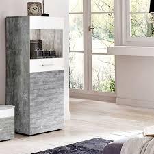 Wohnzimmerschrank Auf Rechnung Wohnwand Beton Weiß Anbauwand Wohnzimmer Tv Fernsehschrank