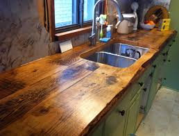Reclaimed Wood Kitchen Cabinets by Countertops Reclaimed Wood Kitchen Island Countertop Rustic
