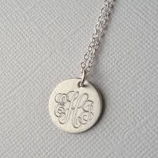 Mens Personalized Necklace Men U0027s Classic Sterling Silver Monogram Necklace By Mia Belle