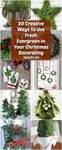 20 creative ways to use fresh evergreen in your christmas
