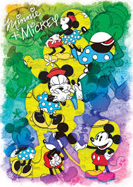 disney expressions minnie and mickey forever jigsaw puzzle