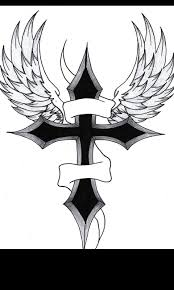 drawing cool cross drawings with wings as well as cool celtic